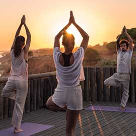 Yoga Sunset deck
